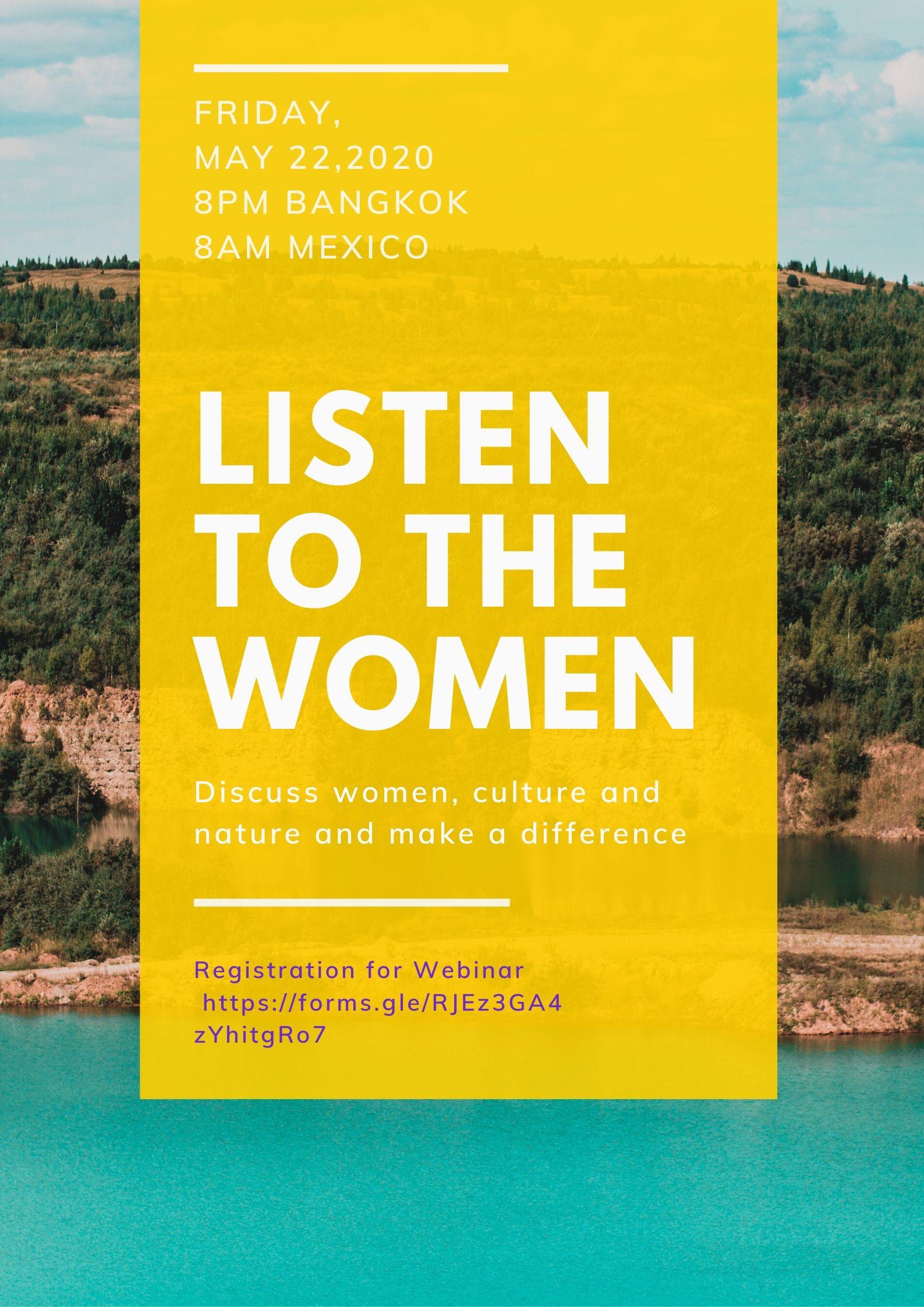 LISTEN TO THE WOMEN